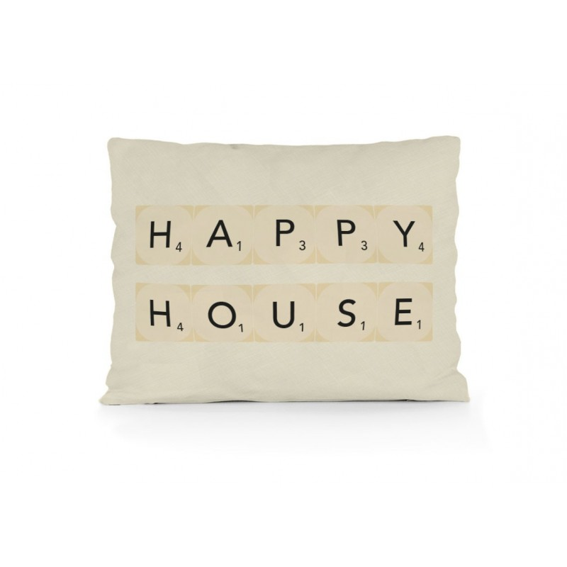 Cojin Happy House 50x35