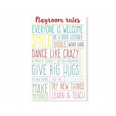 Lienzo Playroom Rules