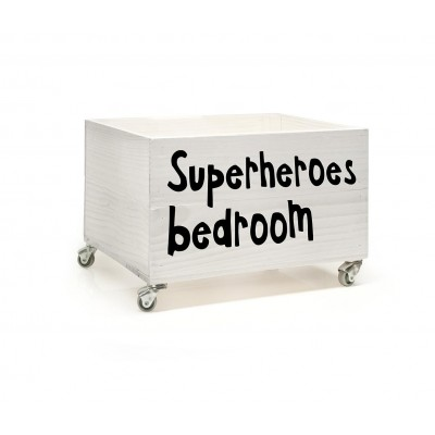 Cajón con vinilo Superheroes Bedroom