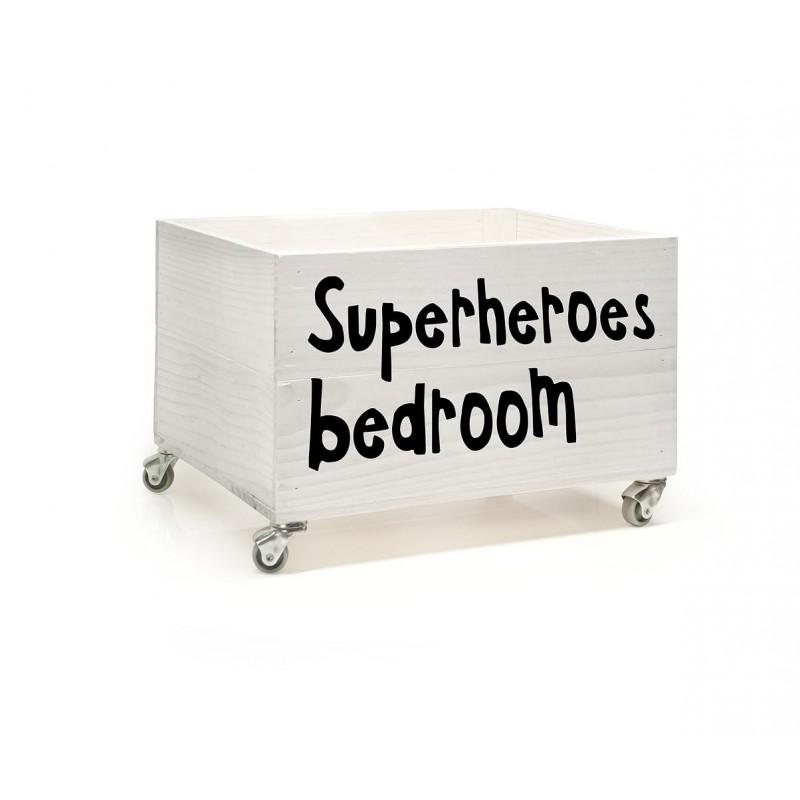 Cajón con vinilo Superheroes Bedroom