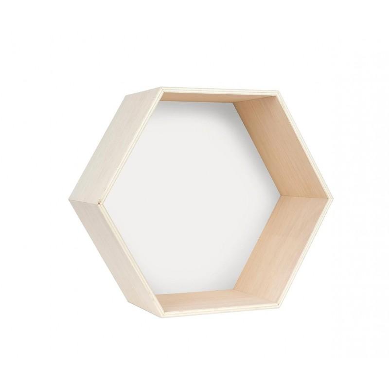 Hexagono Individual Blanco L