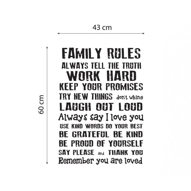 Vinilo Family Rules