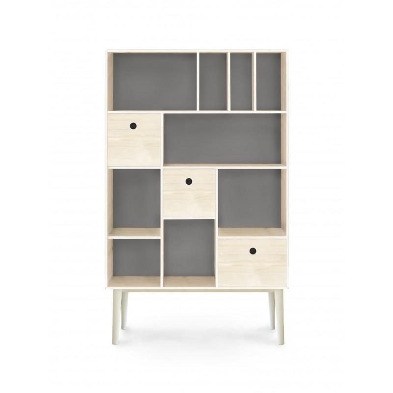 Mueble organizador gris estilo n rdico for Mueble organizador