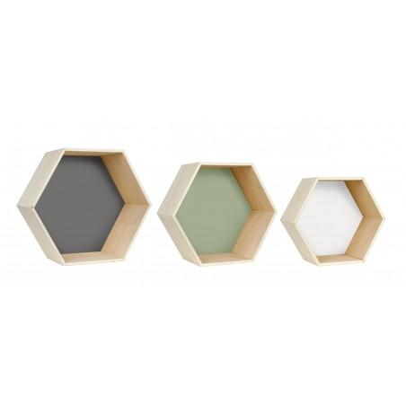 Set Hexagonos White