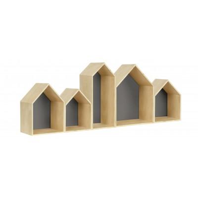 Houses Bookcase Gris