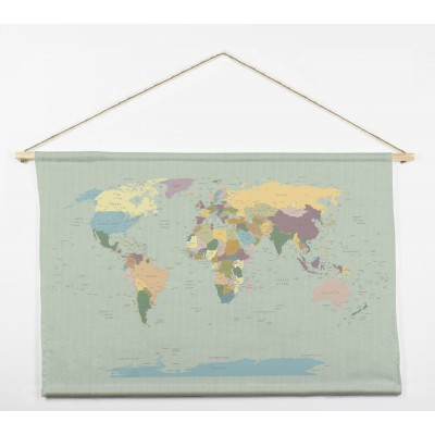Tapiz Worldmap 90x60