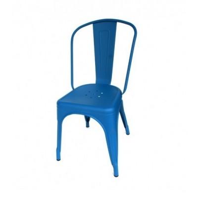 Silla Vintage Estilo Tolix Azul