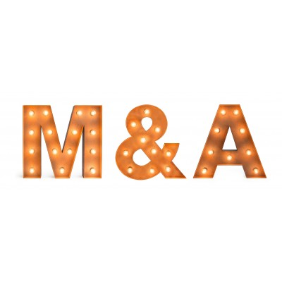 Set de 3 letras vintage con bombillas
