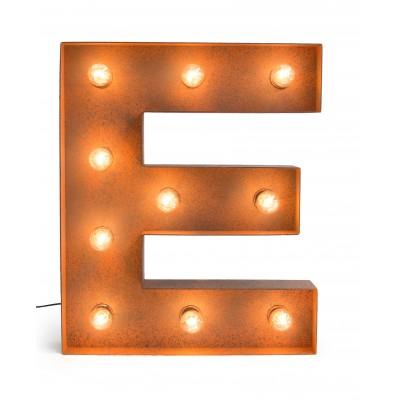 Letra E con Bombillas