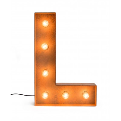 Letter L with Light Bulb