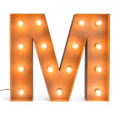 Letra M con Bombillas