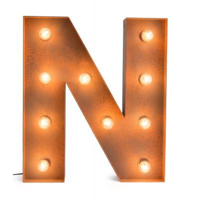 Letra N con Bombillas