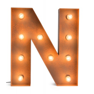 Letter N with Light Bulb