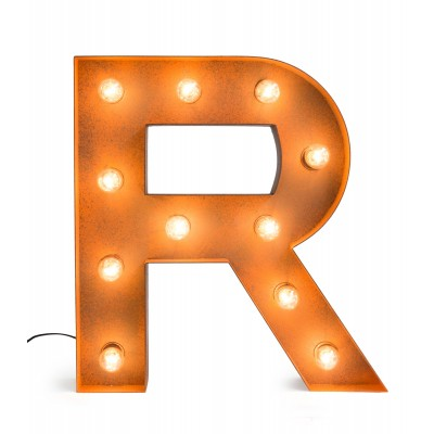 Letter R with Light Bulb