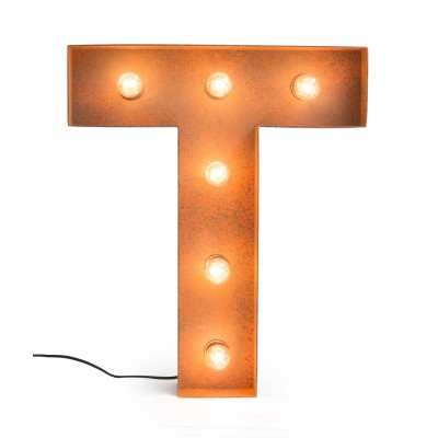 Letter T with Light Bulb