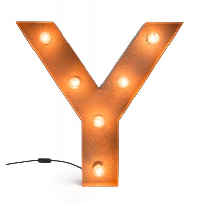 Letter Y with Light Bulb