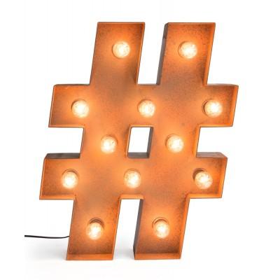 Hashtag con Bombillas