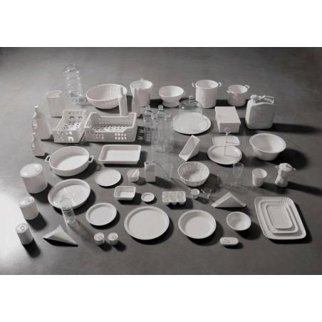 Cesta Pan Blanca en Porcelana