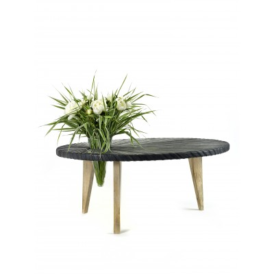 Low Table Coffeetable Ovale Rubber
