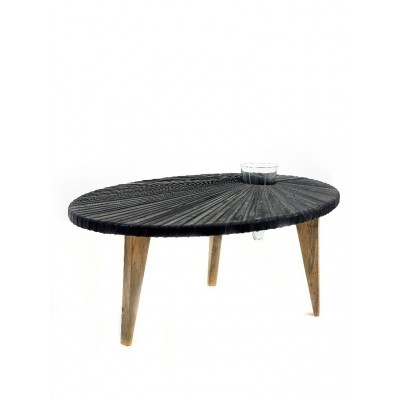 Mesa Baja Coffeetable Ovale Rubber