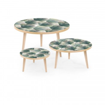 Set of Stamped Tables Palm Leaves