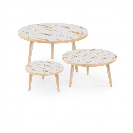 Set of Stamped Tables Swimmers