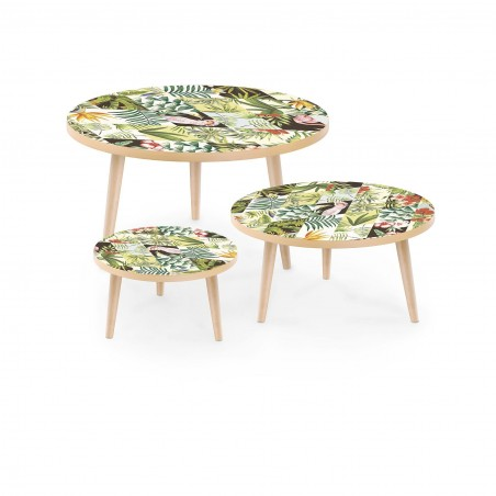 Set of Stamped Tables Tropical