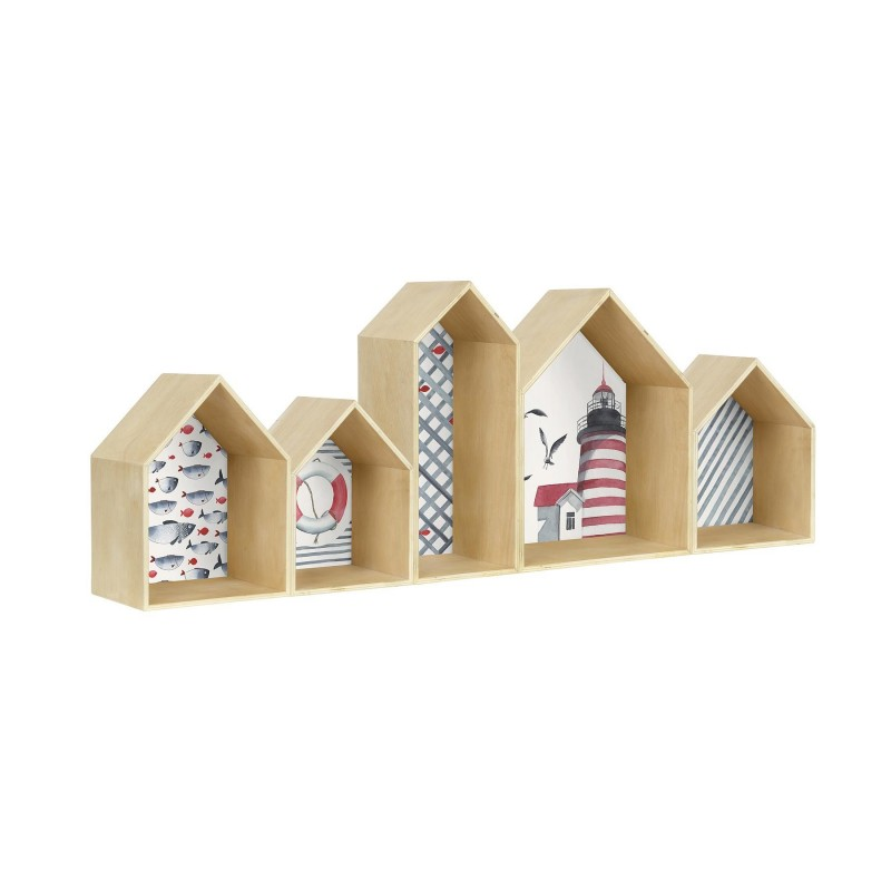 Houses Bookcase Sea