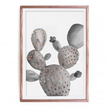 Cuadro Cobre Cactus