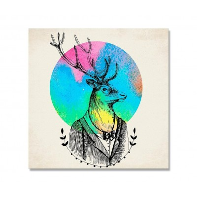 Lienzo Deer Watercolor