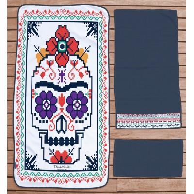 Set Toallas Hogar Frida Skull