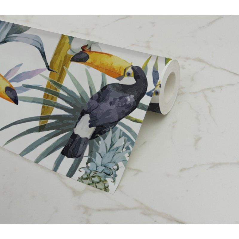 Comprar papel pintado pared tucan online - Papel pared lavable ...