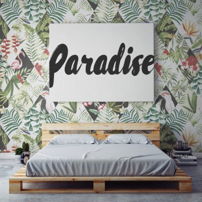 Papel Pintado Pared Tropical