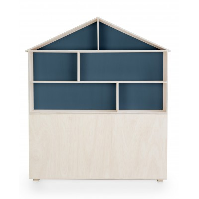 Headboard House Blue
