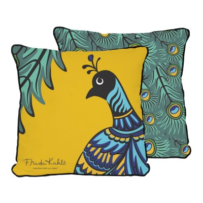 Cushion Peacock Frida Kahlo