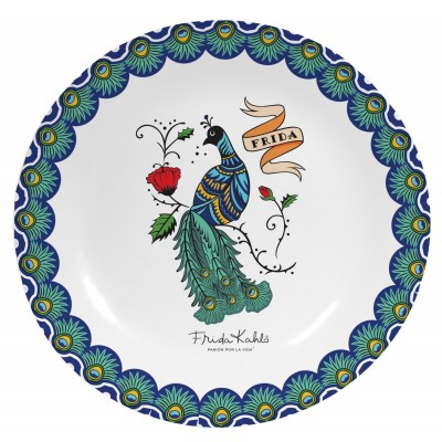 Plato decorativo Peacock
