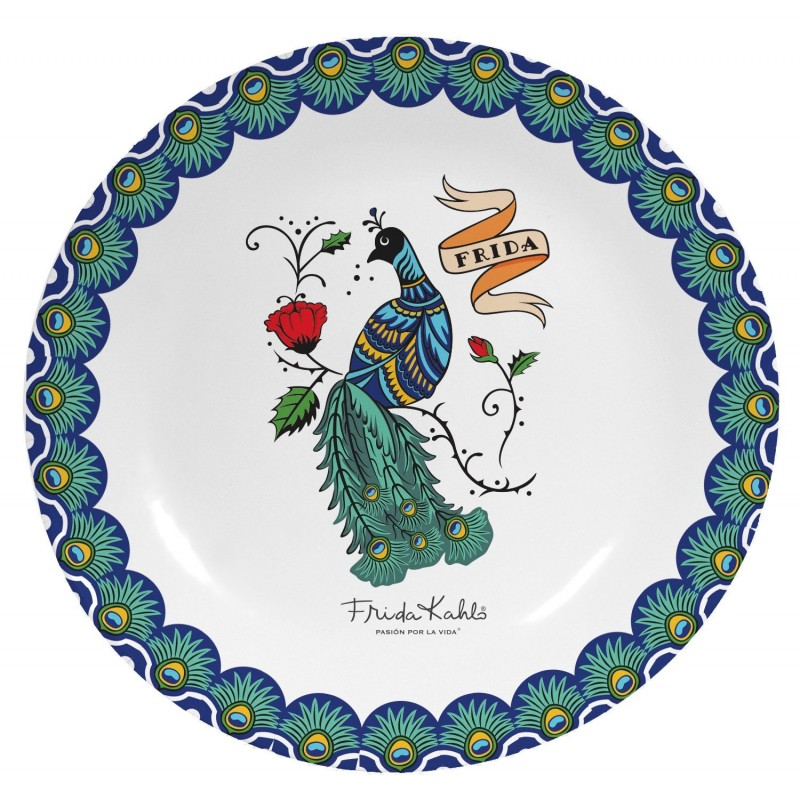 Plato decorativo Peacock