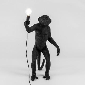 Lampara Mono Negro en Pie