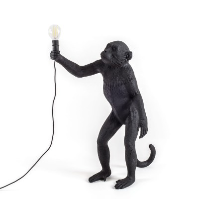 Black Monkey Lamp Standing