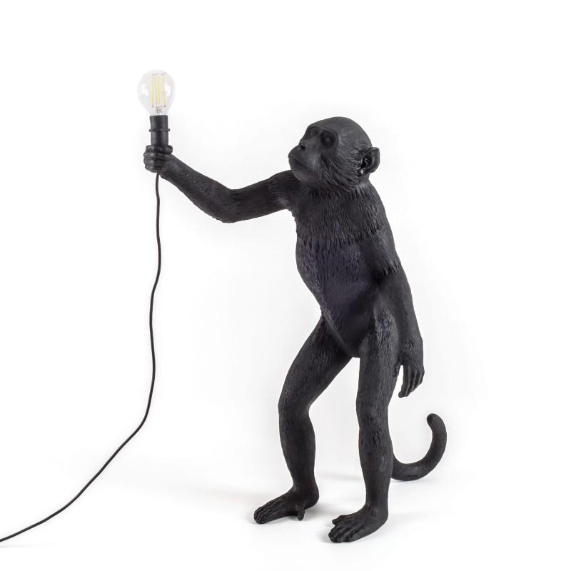 Black Monkey Lamp Standing