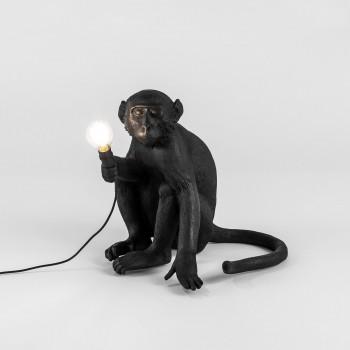 Lampara Mono Negro Sentado