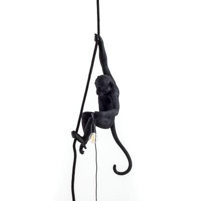 Lampara Mono Negro en Suspensión