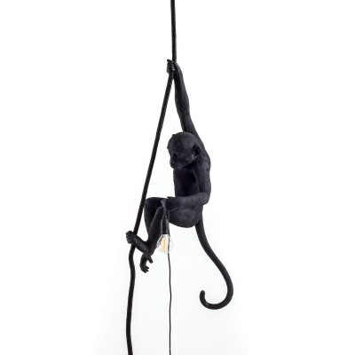 Monkey Lamp Black Hanging