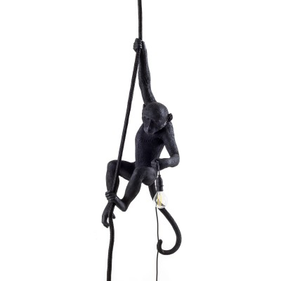 Monkey Lamp Black Ceiling