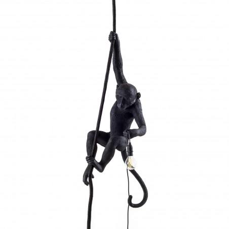 Monkey Lamp Black Hanging