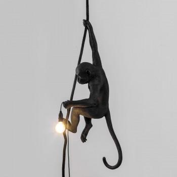 Lampara Mono Negro Colgado