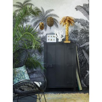 Brass Palm Lamp