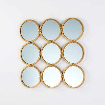 Espejo Metal Oro