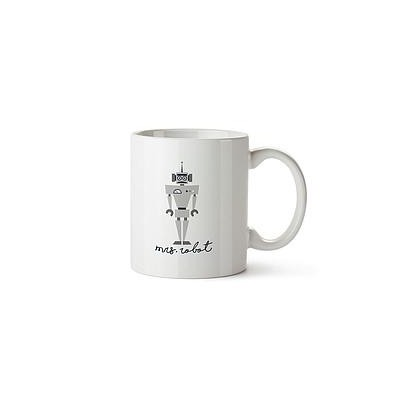 Taza Decorada Mrs Robot