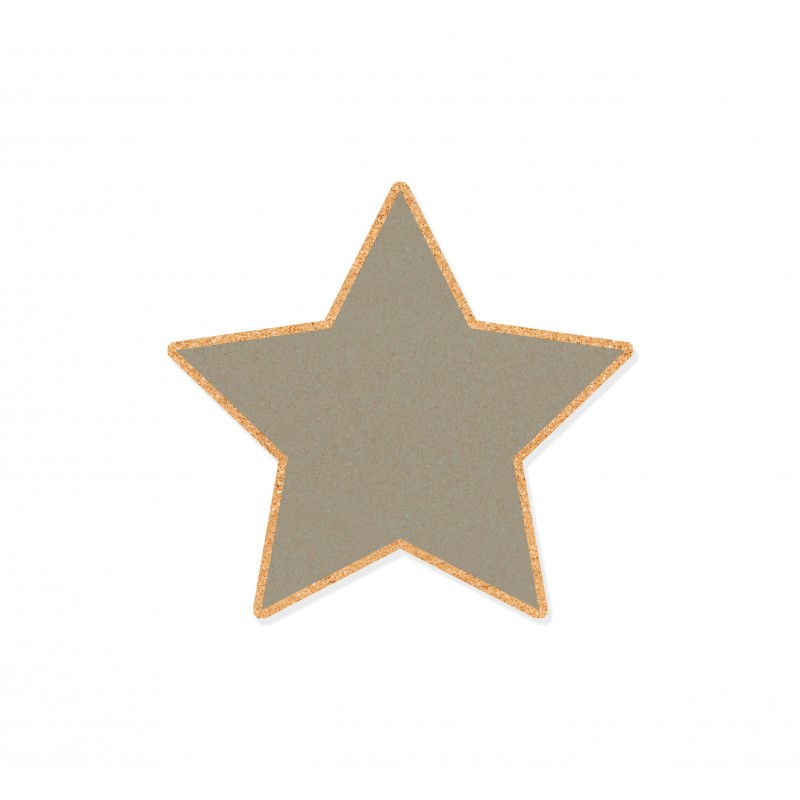 Wall Cork Cool Grey Star